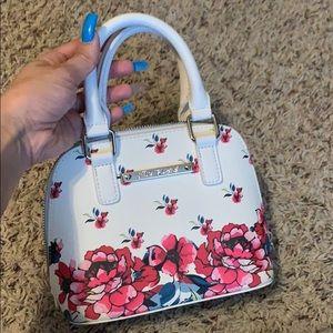 Betsey Johnson White Floral Mini Purse